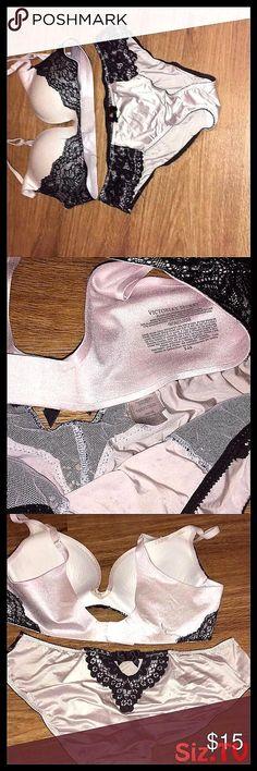 Victoria secret bra underwear set wedding lot pink Victoria secret bra and underwear, used not abuse women's size bra with matching underwear, medium normal use PINK Victoria's Secret Intimates & Sleepwear Bras Airwalk, Victoria Secret Bras, Crochet Bikini, Bikinis, Swimwear, Active Wear, Wedding Underwear, Women, Victoria's Secret
