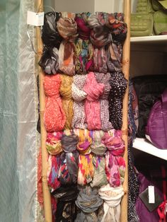 Great idea for merchandising scarves from Elegant Expressions