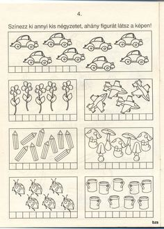 Free Spring Math Worksheet - Count the Flowers Dinosaurs Preschool, First Grade Worksheets, Kindergarten Math, Pre School, Crafts For Kids, Diagram, Album, Activities, Learning