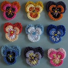 crochet pattern - pansies