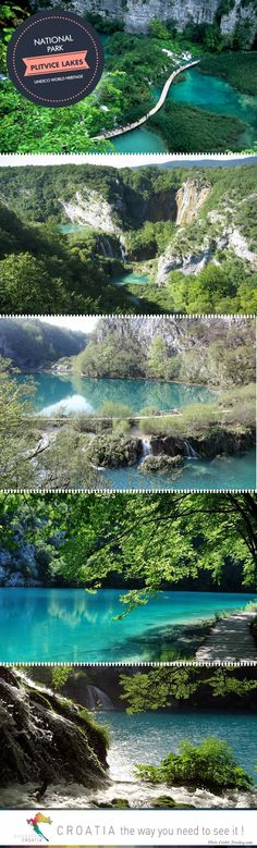 One of the most beautiful places in Croatia and a UNESCO World Heritage site: National Park Plitvice Lakes. #TRAVEL