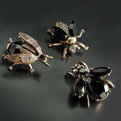 Elvira's Queen Bee Pin Trio Set Mistress of the Dark Bee