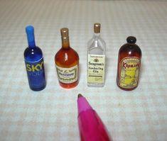 Dollhouse Miniature Bottle of Wild Turkey 1:12 Scale