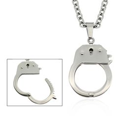 Gravity Stainless Steel 'Handcuff' Necklace, Men's