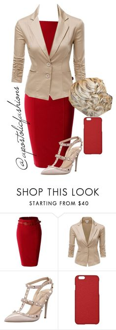 """Apostolic Fashions #897"" by apostolicfashions on Polyvore featuring LE3NO, Doublju, Valentino and Maison Takuya"