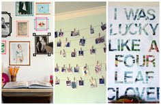 #DIY alert! These ten fun ideas will help totally customize you room and add pretty personal touches for you to enjoy
