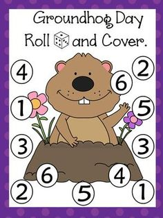 Groundhog Roll and Cover Games by Bilingual Classroom Resources Kindergarten Groundhog Day, Groundhog Day Activities, Speech Activities, Holiday Activities, Holiday Themes, Kindergarten Rocks, Preschool Themes, Preschool Lessons, Preschool Activities