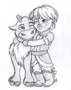 Me and my friend let out a squeal of cuteness overload when they first showed Sven and Kristoff when they were little.