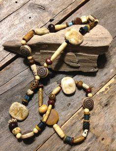 Love Beads Hippie Bohemian Unisex Organic by TheHippieBohemian, $37.00