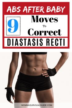 Fix your diastasis recti with these 9 simple exercises! I healed mine in just 5 weeks thanks to THIS workout. Post Baby Workout, Post Pregnancy Workout, Mommy Workout, Pre Pregnancy, Pregnancy Advice, What Is Diastasis Recti, Diastasis Recti Exercises, Easy Workouts, At Home Workouts