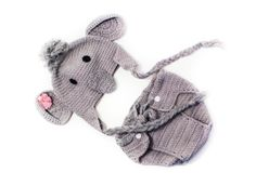 Newborn baby girl hat baby elephant beanie by SweetBabyJamesShop, $25.00