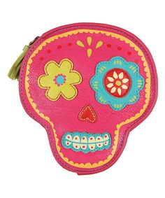 This Karma Pink Sugar Skull Coin Purse by Karma is perfect! #zulilyfinds