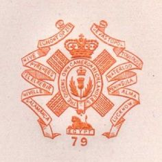 C1900 79TH FOOT QUEENS OWN CAMERON HIGHLANDERS PAPER EMBOSSED LETTERHEAD CREST