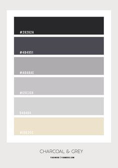 Charcoal and Grey Bedroom Colour Scheme | Dark Bedroom Walls Grey Colour Scheme Bedroom, Best Bedroom Colors, Colour Pallette, Color Palate, Paint Color Pallets, Dark Bedroom Walls, Hex Color Codes, Mood Colors, House Color Schemes