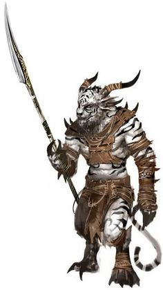 Gnoll Swordmage by ZackMan69 white tiger monster beast creature animal   Create your own roleplaying game material w/ RPG Bard: www.rpgbard.com   Writing inspiration for Dungeons and Dragons DND D&D Pathfinder PFRPG Warhammer 40k Star Wars Shadowrun Call of Cthulhu Lord of the Rings LoTR + d20 fantasy science fiction scifi horror design   Not Trusty Sword art: click artwork for source: