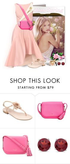 """""""Rose Spring"""" by lurve-music ❤ liked on Polyvore featuring Whiteley, Oscar de la Renta, Marc Fisher, Kate Spade, Christian Dior, BillyTheTree and springformal"""