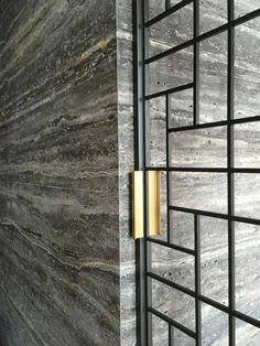 glass door: