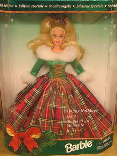 Happy Holidays Gala Barbie 1995