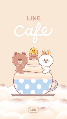 Lines Wallpaper, Bear Wallpaper, Kawaii Wallpaper, Wallpaper Fofos, We Bare Bears Wallpapers, Baby Milestone Cards, Hello Kitty Pictures, Kakao Friends, Friends Wallpaper