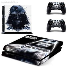 FREE SHIPPING! PS4 Star Wars Darth Vader Force Awakens Decal Skin Stickers For Sony Playstation 4 Console  2 dualshock controllers