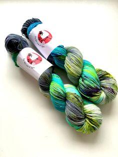 HAND DYED MERINO merino sparkle silk blend sock/fingering weight 400 meters,mermaid lagoon colourway. 100g per skein by Fortheloveofyarnuk on Etsy