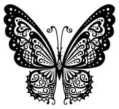 Stock vector of 'Artistic pattern with butterfly, suitable for a tattoo.'