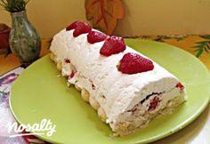 Túrós-tejszínes-epres őzgerinc | Nosalty Hungarian Cake, Hungarian Recipes, Tart, Cheesecake, Food, Cakes, Pie, Cake Makers, Cheesecakes