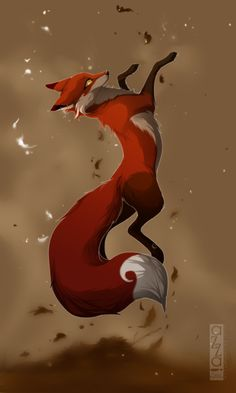 dusk pretty shewolf/fox is very fast and swift is expecting moons pups Anime Wolf, Fuchs Tattoo, Fox Drawing, Fox Tattoo, Fox Art, Cute Fox, Anime Animals, Red Fox, Furry Art