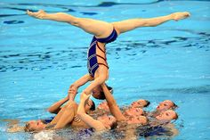 The team from The Netherlands shows off a big swimming move.