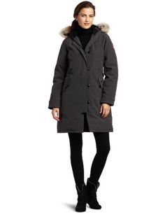 Canada Goose Women's Kensington Parka Coat Girl Outfits, Cute Outfits, Fashion Outfits, Travel Outfits, Travel Fashion, Kensington Parka, Canada Goose Women, Parka Coat, Kinds Of Shoes
