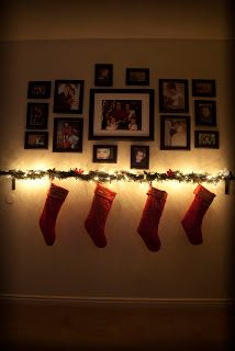 No Mantle? Use a curtain rod to hang stockings!
