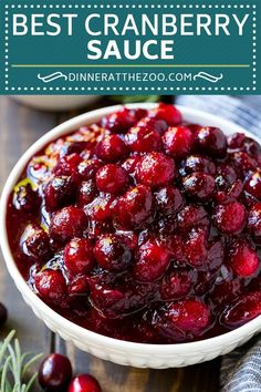 This homemade cranberry sauce is a 6 ingredient recipe that's made with fresh cranberries, sugar and a hint of spice. Homemade cranberry sauce tastes so much better than store bought, and it takes. Best Thanksgiving Recipes, Thanksgiving Side Dishes, Fall Recipes, Thanksgiving Cranberry Sauce, Cranberry Recipes Dinner, Holiday Recipes, Easy Thanksgiving Dinner, Dinner Recipes, Thanksgiving Crafts