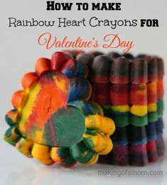Valentine's Day Crayons | Making of a Mom