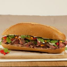 Vietnamese Sandwich (Beef Bánh Mì)