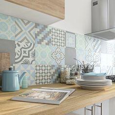 Cores suaves na cozinha.Via Leroy Merlin Decor, Home Kitchens, Kitchen Remodel, Kitchen Design, House Design, Home Decor Kitchen, Kitchen Interior, House Interior, Home Deco