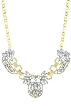 Crystal Deco statement necklace. Www.lulu-le.com