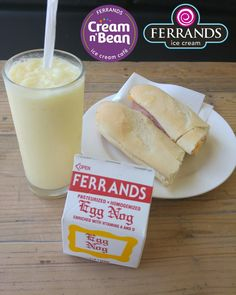 What are you having for lunch? Have some Ferrands Eggnog today. Onlybavailabke for a limited time. #eggnog #ferrands #creamnbean