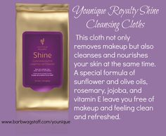 Looking for nature based cleansing cloths? Check out #Younique's Royalty Skin Care Cleansing Cloths www.barbwagstaff.com/younique