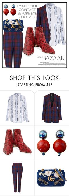 """""""shoe contact"""" by sixtystyle on Polyvore featuring Topshop, Dolce&Gabbana, Nico and Gucci"""