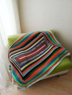 47 x 60 Geometric  chevron blanket Granny Square by NesrinArt