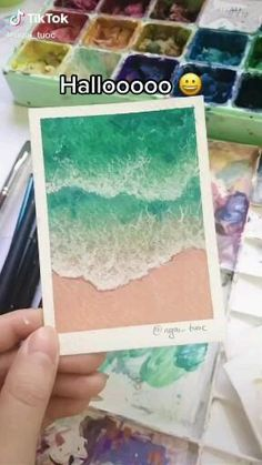 Easy Canvas Art, Small Canvas Art, Mini Canvas Art, Watercolor Art Lessons, Watercolor Landscape Paintings, Gouache Painting, Watercolour, Art Painting Gallery, Art Drawings Sketches Simple