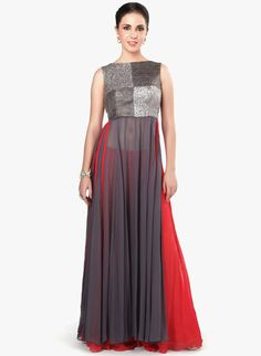 Buy Kalki Fashion Grey Embellished Kurta Pants Set for Women Online India, Best Prices, Reviews | KA187WA12YHRINDFAS