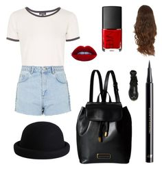 """My Daily Outfit"" by cal1996 on Polyvore featuring moda, Topshop, See by Chloé, Marc by Marc Jacobs, H&M, NARS Cosmetics e Pieces"