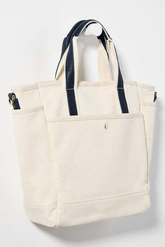Ryland Tote Bag by Anthropologie in Blue Size: All, Bags Leather Bags Handmade, Canvas Tote Bags, Purses And Handbags, Anthropologie, Crossbody Bag, Pouch, Reusable Tote Bags, Zip, Shopping