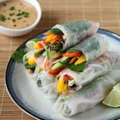 Healthy Veggie Spring Rolls