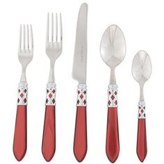 Vietri Aladdin Five Piece Place Setting Brilliant Red
