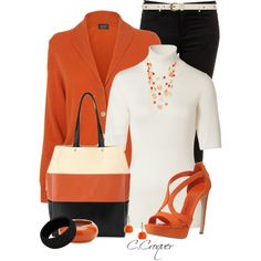 Three Color Block Bag, created by ccroquer on Polyvore