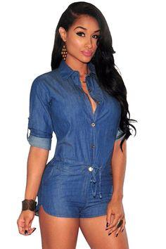 1060d2234ffd Buy Denim Shorts Jeans Jumpsuit Romper at Sins   Temptations for only Rs  2
