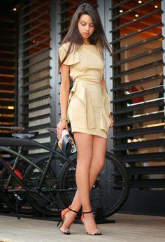 Gorgeous pale goldenrod street fashion inspiration & looks