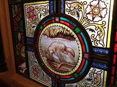 Rupertswood Mansion, Sunbury, Australia - Urie and Ferguson - platypus stained glass part of huge window